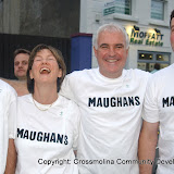 Maughan's Bar team who took part in the Traders' Race in the Crossmolina Festival. The event was sponsored by Ballina Beverages Coca-Cola. Picture: John O'Grady.