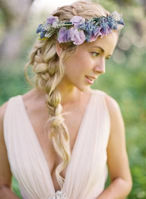 Beautiful long blonde hair with flowersWedding Hairstyles For Long Hair With Flowers Braid
