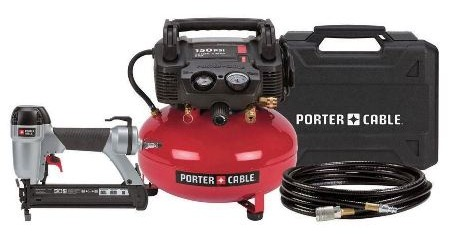 porter cable air compressor and brad nailer