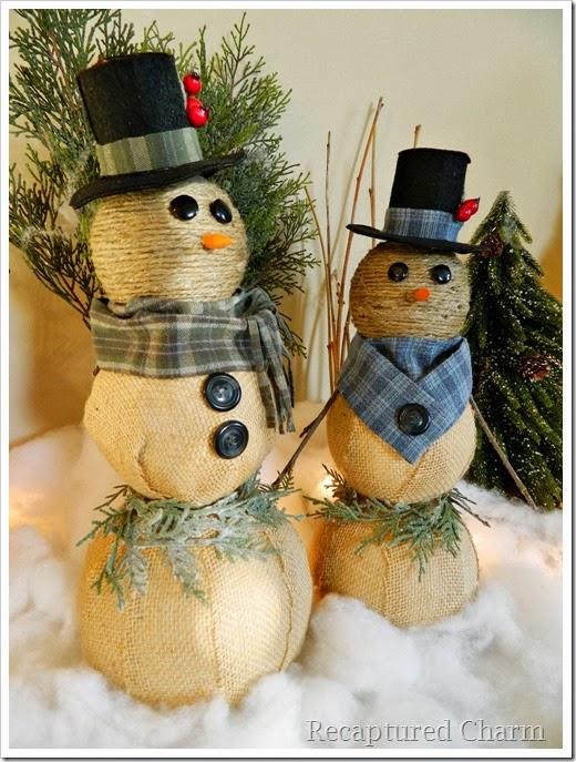 burlap & twine snowmen44
