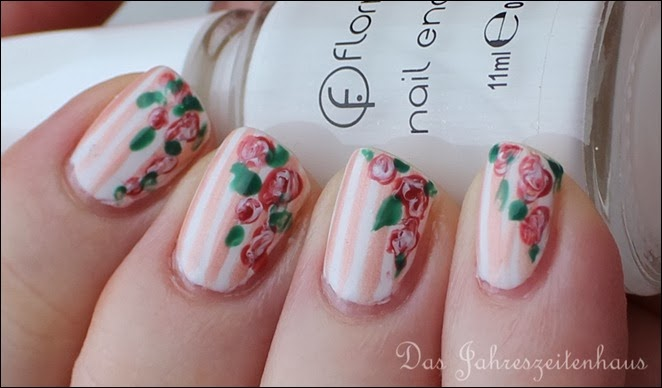 In Bloom Nail Art Roses Vintage Spring Design 9