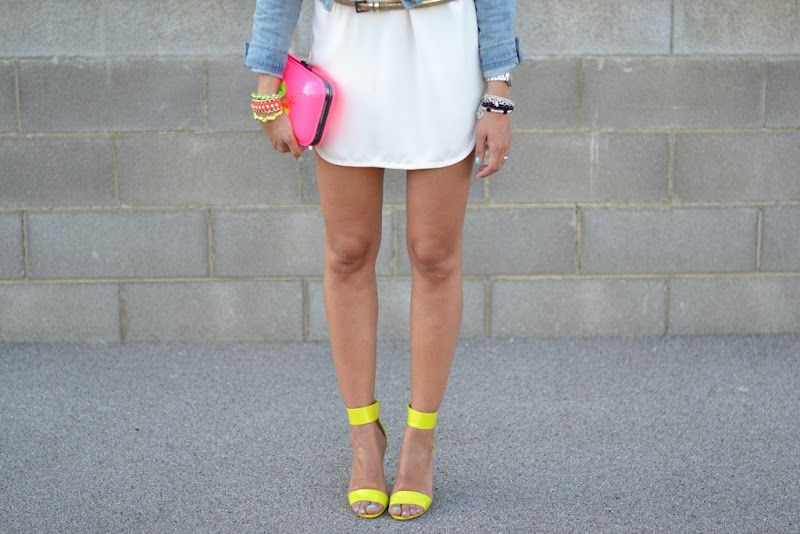 Neon, H&M Sandals, H&M, Zara Dress, Zara White Dress
