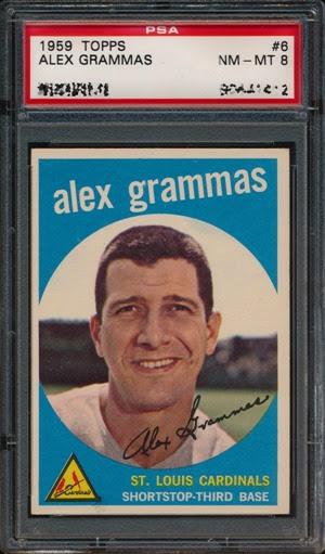 1959 Topps 6 Alex Grammas light