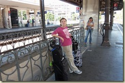 Waiting for our train at Trastevere (Small)