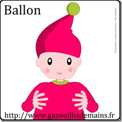 illustration signe LSF ballon bébé lutin
