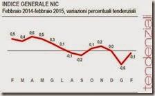 Indice generale NIC. Febbraio 2015