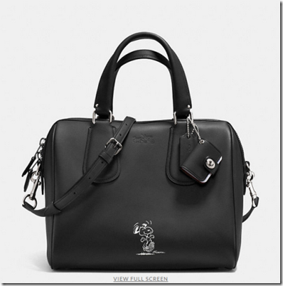 COACH X Peanuts surrey satchel - USD 450 - silver black