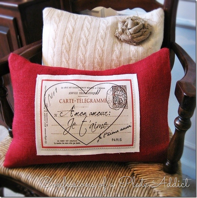 CONFESSIONS OF A PLATE ADDICT Pottery Barn Inspired Valentine Pillow