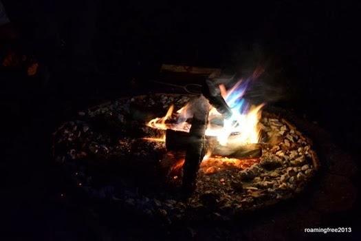 Nicolas' colorful fire