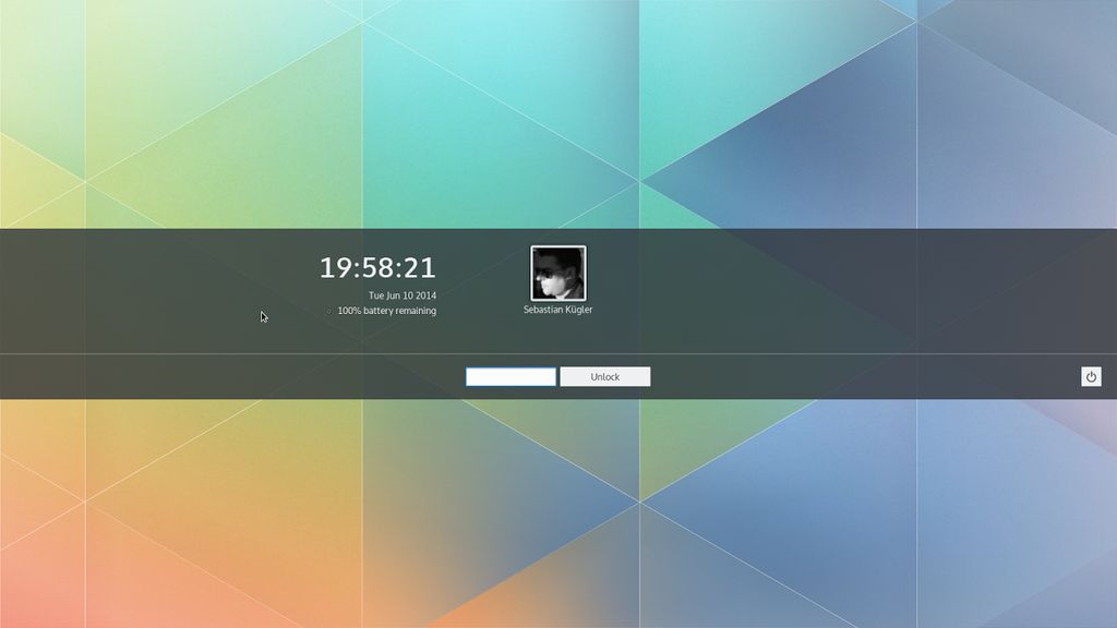 KDE Plasma Next Beta 2 - Lockscreen