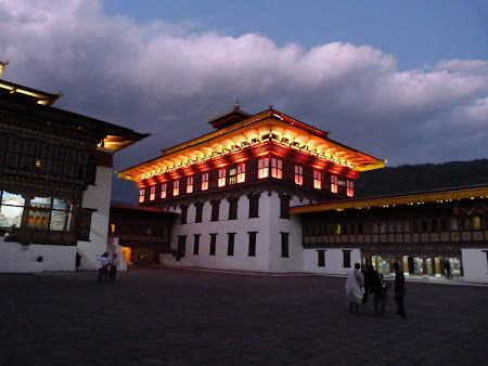 Dzong by night