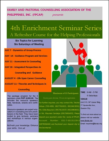 4th Enrichment Seminar