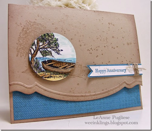 LeAnne Pugliese WeeInklings Moon Lake Anniversary Stampin Up