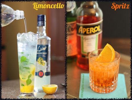 Шприц и Лимончело