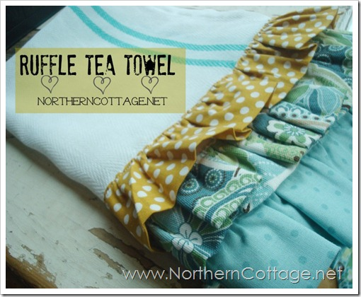 ruffle tea towel @ NorthernCottage.net