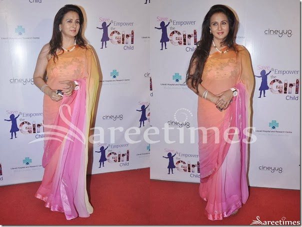 Poonam_Dhillon_Tricolor_Georgette_Saree