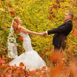 Together by Vasiliu Leonard - Wedding Bride & Groom ( wedding photography, wedding, wedding photographer, bride, groom )