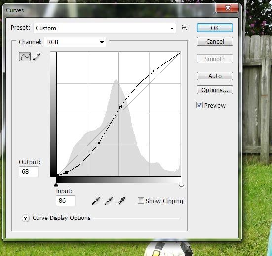 step 1 - adjust curves