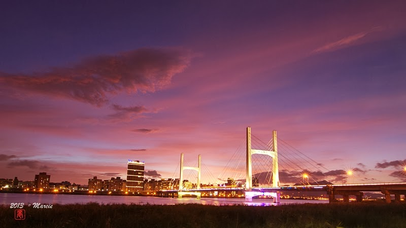 重陽橋 夜景 夕陽
