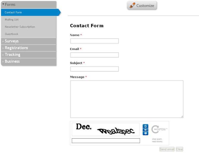 EmailMeForm Form Templates