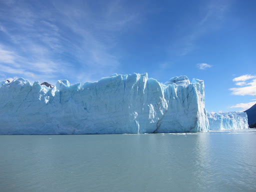 The massive vertical walls of Perito Moreno.