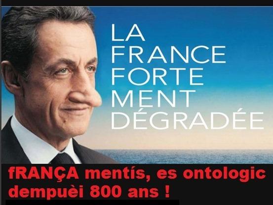 Nicolas Sarkozy Aficha desvirada