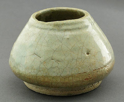Vessel | Origin: Egypt | Period: 10th or 11th century | Collection: The Madina Collection of Islamic Art, gift of Camilla Chandler Frost (M.2002.1.209) | Type: Ceramic; Vessel, Earthenware, glazed, Height: 2 3/4 in. (6.98 cm); Diameter: 3 3/4 in. (9.52 cm)
