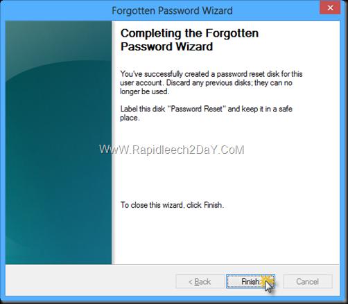 Password Reset Disk windows 8 -5