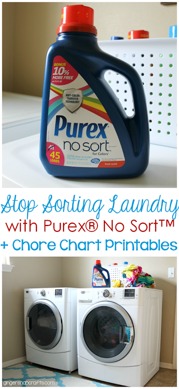 Ginger Snap Crafts Stop Sorting Laundry With Purex No Sort
