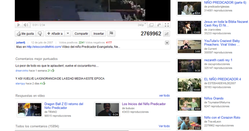 Respuestas de video en Youtube