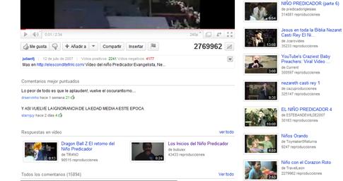 Respuestas de video en Youtube