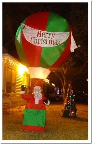 Santa in hot air balloon