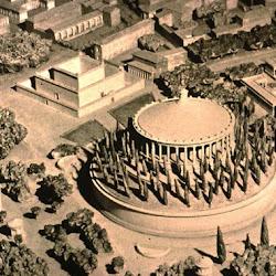 46.- REcosntrucción Mausoleo de Augusto, Roma.