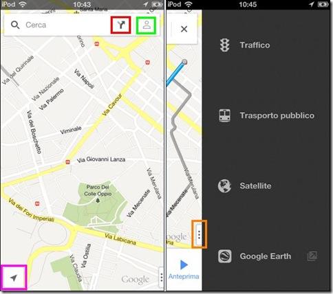 Google Maps per iPhone funzioni