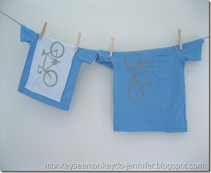 Matching Bike T-Shirts with Freezer Paper Stencil