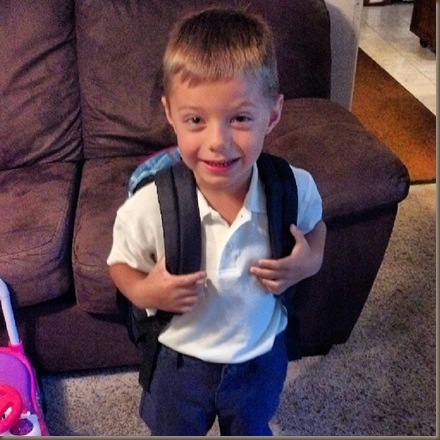 Aidan first day of school