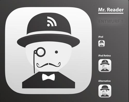 Mr reader ipad rss reader icon design history first drafts