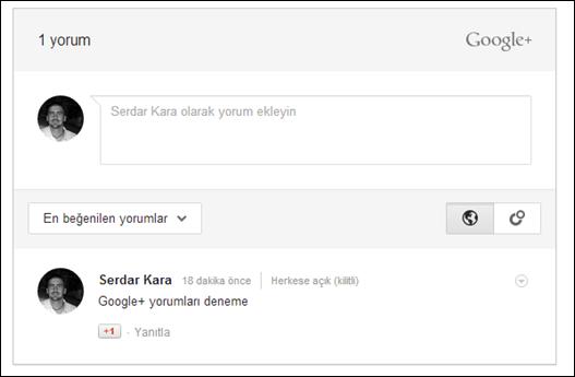 Blogger'da Google+ Yorumları