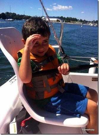 2-Trevy Sailing at Camp 2013