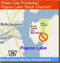 Pigeon Lake Waterf Use Alert
