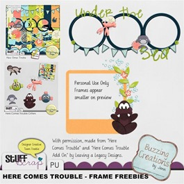 Leaving a Legacy Designs - Here Comes Trouble - Frame Freebies Preview