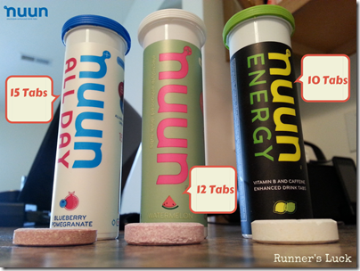 Nuun Size Difference