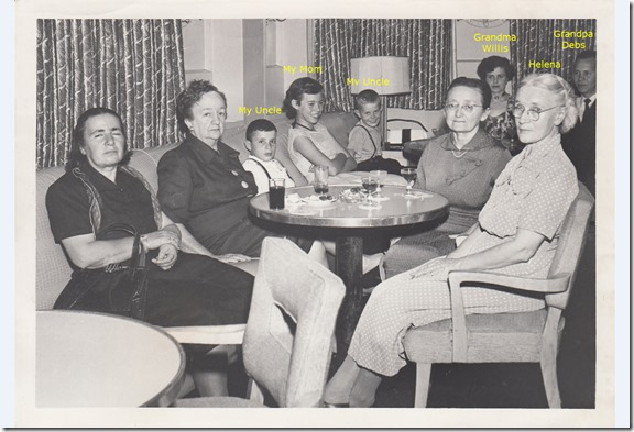 The Webster Family on Board the S.S. Brazil July 1952