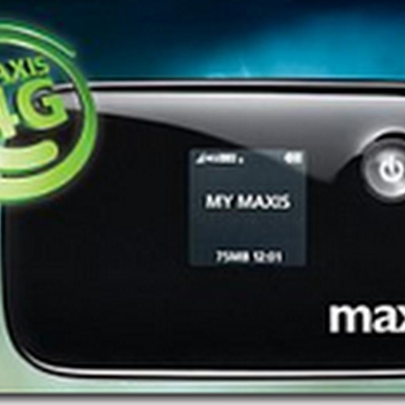 MAXIS 4G LTE Mobile WiFi (MiFi) | Modem percuma untuk anda !