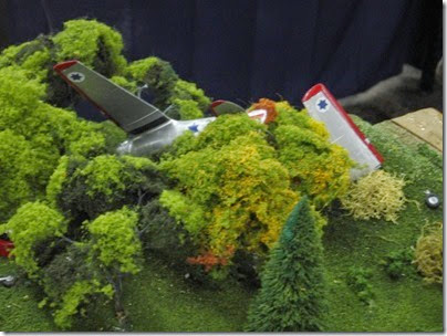 IMG_5558 Plane Crash on the SwissRail HO-Scale Layout at the WGH Show in Portland, OR on February 18, 2007