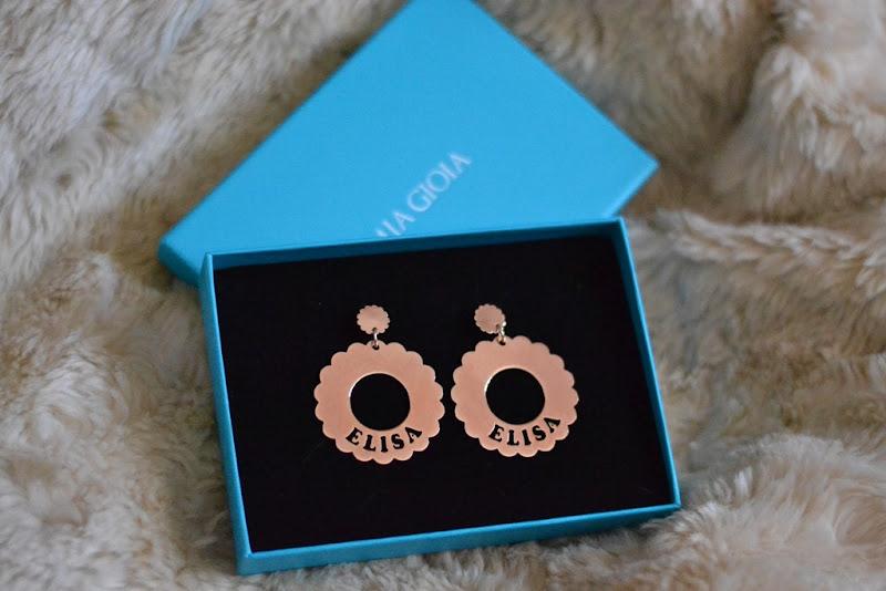 Mia Gioia earrings,earrings, gold earrigns, personalized earrings, fashion blog, jewels, accessires,