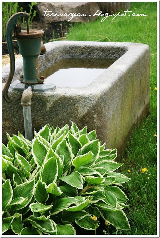 stone tub pitcher pump faucet
