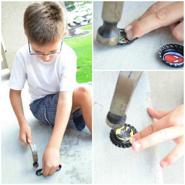 Bottle Cap Zipper Pull Tutorial  Collage