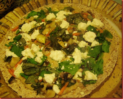Healthy veggie pizza 025