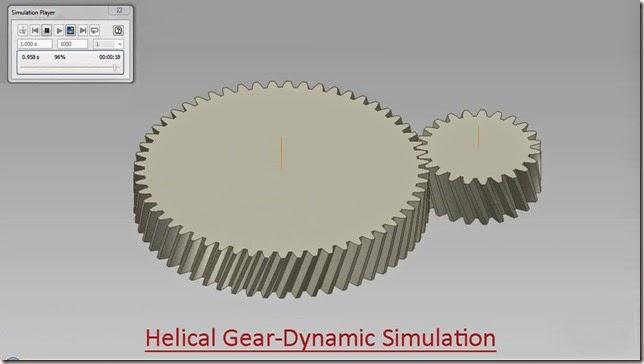 Helical Gear-Dynamic Simulation